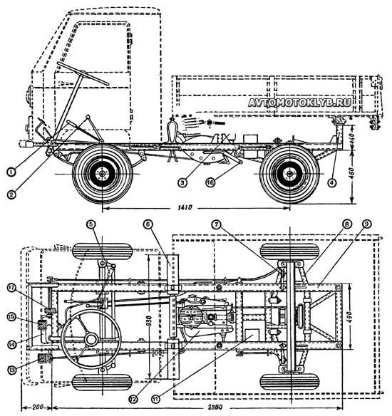 Основные узлы и конструкция самодельного мини-грузовика