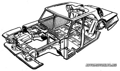 Каркас кузова ГАЗ-24