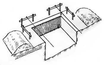 Вид на часть котлована с обноской
